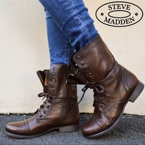 Steve Madden Troopa Combat Boots (brown)
